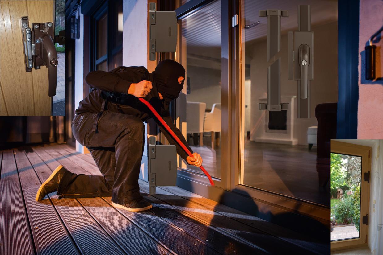 Mechanische Fenster- und Türensicherung eines Einfamilienhauses