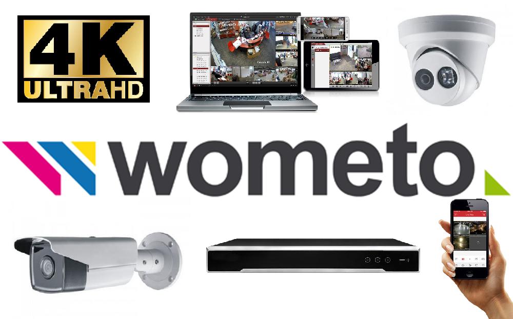wometo – Videoüberwachung Firmengebäude und Wohnhaus mit 6 ULTRA HD Kameras, Fernzugriff per App über Smartphone, Tablet und PC