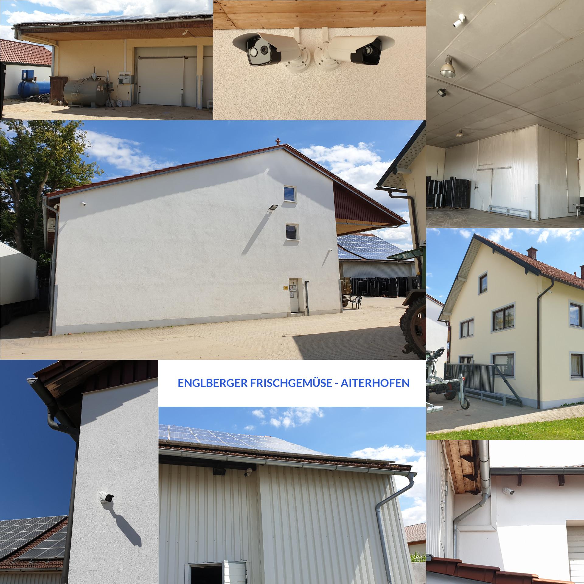 Überwachung eines landw. Großbetriebs mit 16 hochauflösenden IP-Kameras inkl. Wärmebildkameras, Kamera-App mit Intercom-Funktion